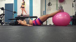 ejercicios abdominales con pelotas