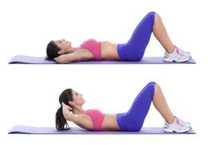 abdominales crunch inverso