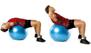 abdominales con pelotas de equilibrio