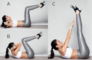 ejercicios abdominales acostado