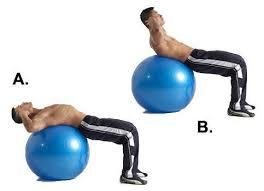 abdominales con pelotas de pilates